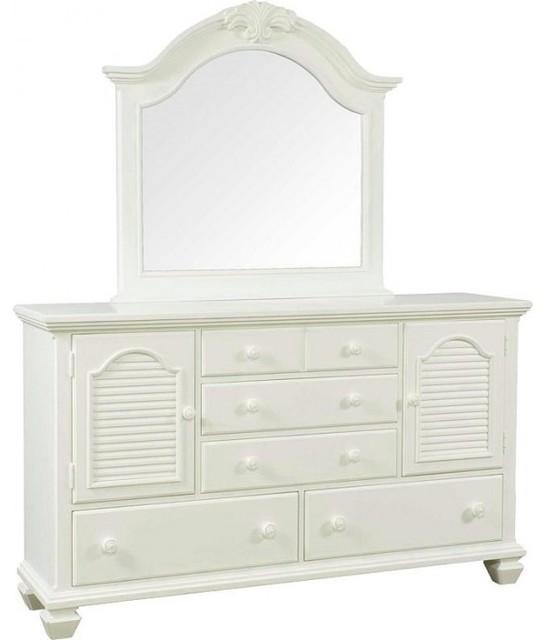 Broyhill - Mirren Harbor White Door Dresser And Mirror ...