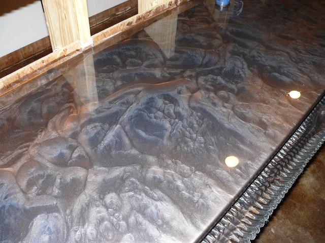 Metallic Countertop Paint : Metallic epoxy systems - Contemporary - nashville - by Epo-Floors