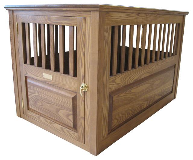 Wooden Dog Crate Medium Cherry Walnut Large 45 Quot X 29 Quot X
