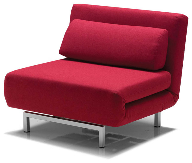 Iso swivel sleeper chair bed red