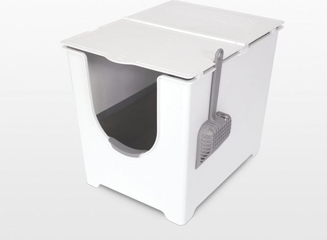 modko flip litter box moderne bac liti re pour chat et maison de toilette par modko. Black Bedroom Furniture Sets. Home Design Ideas
