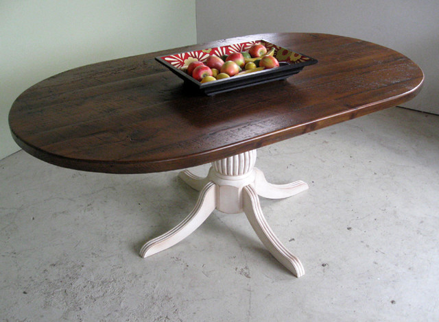 Racetrack Oval Dining Table from Reclaimed Wood  : farmhouse dining tables from www.houzz.com size 640 x 470 jpeg 85kB