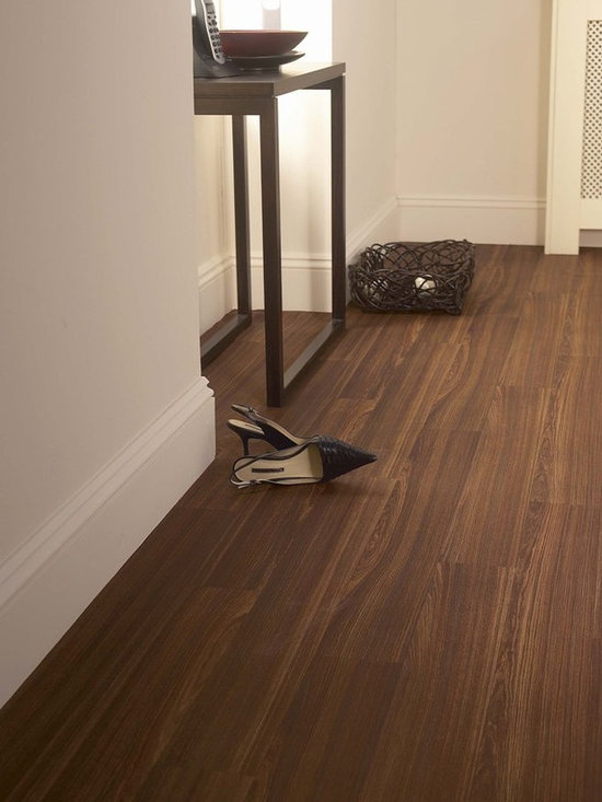 Wenge Bourbon, Cushion Step vinyl sheet flooring by Armstrong -
