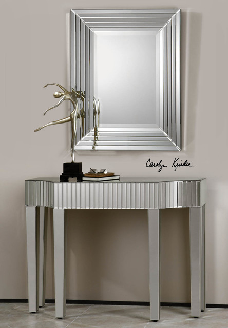 Ikona Mirrored Console Table - Beach Style - miami - by Zin Home