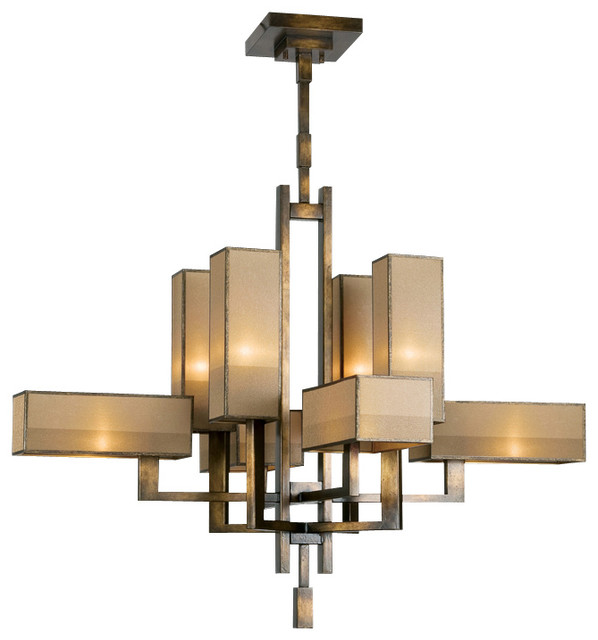 Perspectives Bronze Chandelier, 733840ST - Contemporary - Chandeliers - by Masins Furniture