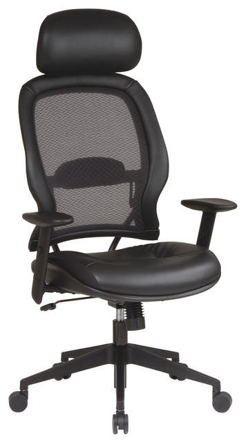 professional air grid leather office chair with adjustable