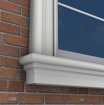 Mx217 exterior window sills plaster moulding skirting for Exterior window sill design
