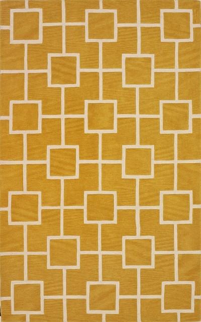 Contemporary Infinity 9'x13' Rectangle Dandelion Area Rug contemporary-rugs