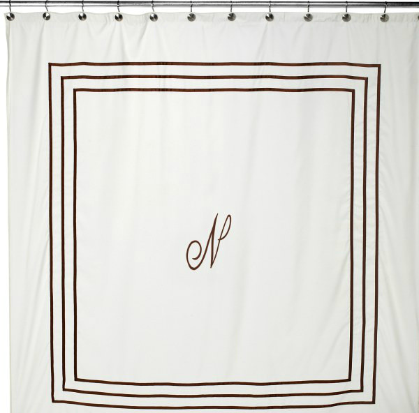 Aussino Monogram Shower Curtain - contemporary - shower curtains