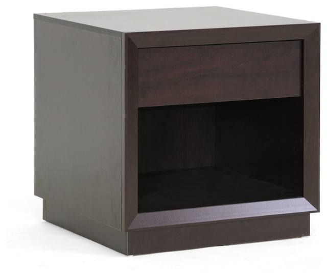 Baxton Studio Girvin Brown Modern Accent Table and Nightstand transitional-nightstands-and-bedside-tables
