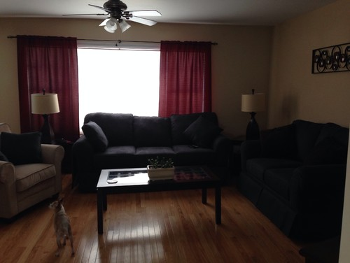 Curtain help for What color curtains go with beige walls and dark furniture