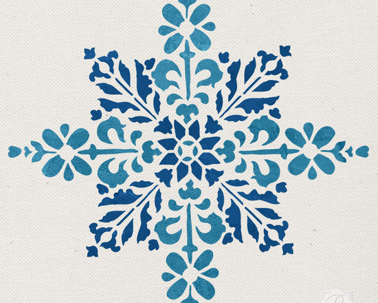 Embroidered Star Moroccan Christmas Stencil -