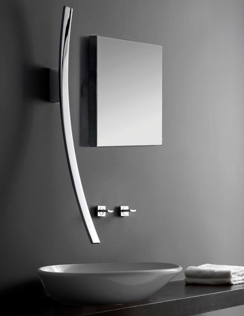 Graff G-6000-PC-T Polished Chrome Luna Wall Mounted Bathroom Faucet contemporary-bathroom-faucets