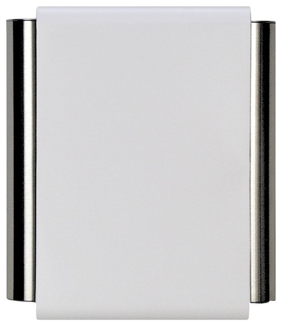 Pewter Tubes Doorbell W White Cover Contemporary