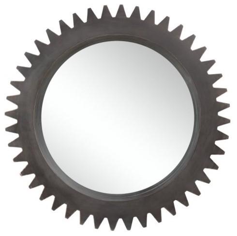 Bremen Cog Wheel Oversized Mirror - 38 diam. contemporary-mirrors