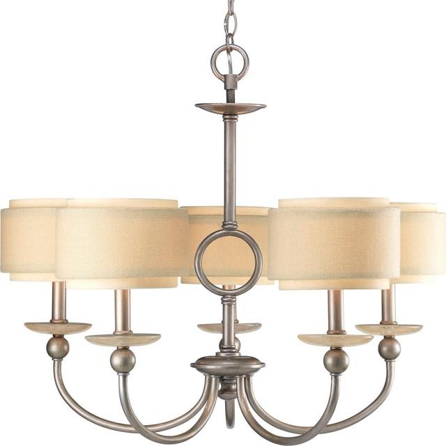 Double Drum Urban Chandelier - 5 Light chandeliers