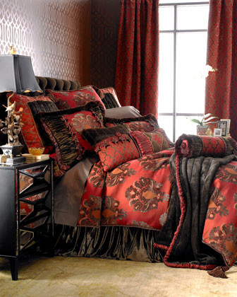 Dian Austin Couture Home Gainsborough Bed Linens King Panne Velvet Dust Skirt traditional-bedskirts