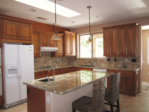 Love the cabinets is the whiskey black glaze all over the cabinets