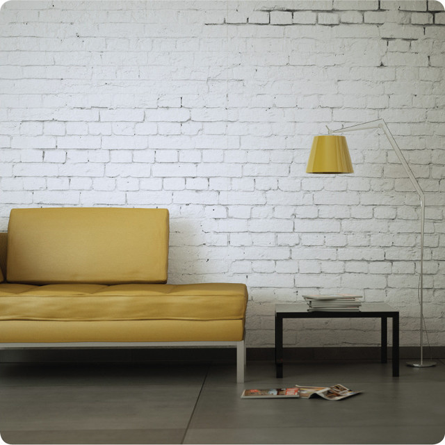 White brick removable wallpaper contemporary wallpaper for Brick wall mural decal