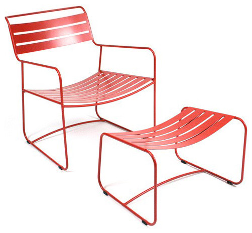 Fermob Surprising Lounger Armchair w/ Footrest modern-outdoor-chairs