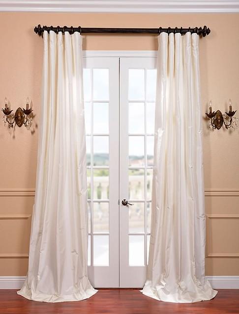 White Satin Silk Taffeta Curtain Curtains San Francisco By Half Price Drapes