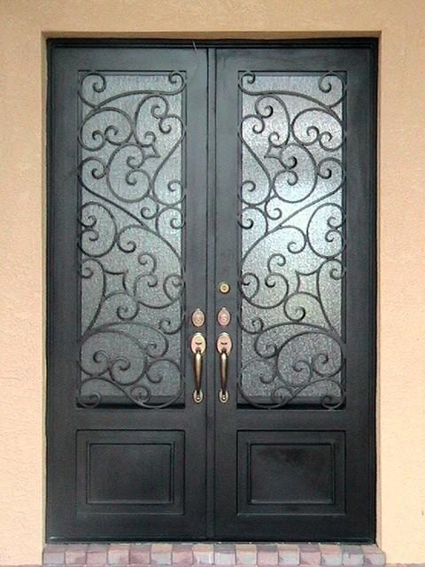Forge Iron Designs mediterranean-front-doors