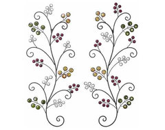 Berry Bushes Metal Wall Art Sculpture Set of 2 contemporary-artwork