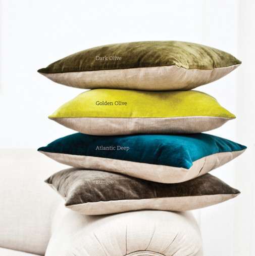 Linen & Velvet Cushions traditional pillows