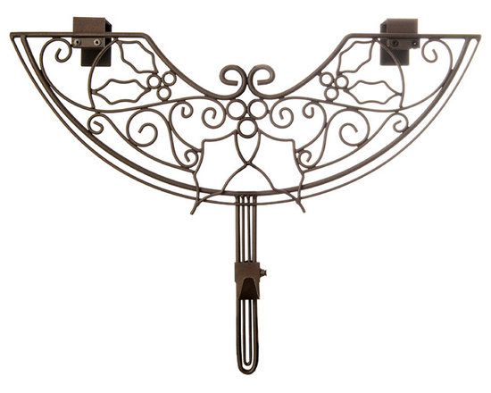 Village Lighting - Holly Berry Adjustable Wreath Hanger - Have a beautiful wreath and want to showcase it against your door? Why not add an elegant and festive wreath hanger. The unique double top hanging bracket design offers extra strength and a stunning unique design. The hanger is also adjustable to suit your door style: whether your door has a window or decorative molding on the front or just recessed decorative trim, the adjustable wreath hanger is the perfect solution. Each hanger is designed to hold your treasured wreath without causing damage to your door. The classic design is scrolled in sturdy, durable iron and will hold up for years to come. A perfect companion to the Garland Hanger!
