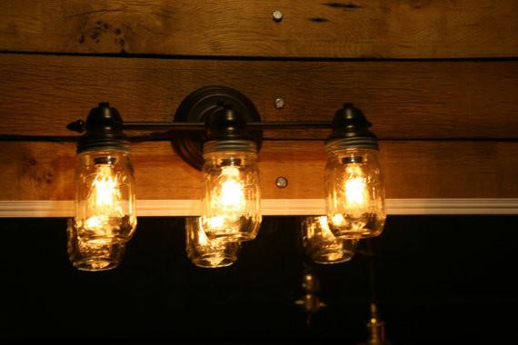 Mason jar wall lamp rustic-wall-lighting