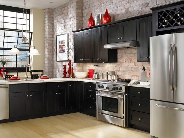 Findley myers knob hill espresso kitchen cabinets for Kitchen cabinets to go
