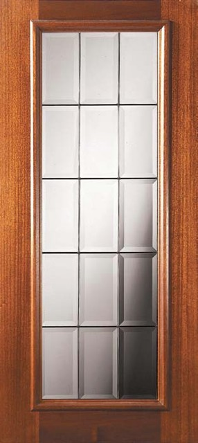 Slab French Exterior Single Door 80 Mahogany French Full