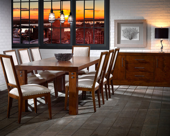 LOFT Collection by Canadel - Rectangular table: TRE 0-4288-33NAR-PK-NF