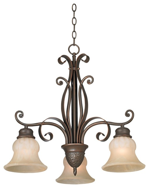 """Country - Cottage Franklin Iron Works Curled Ribbons 22"""" Wide Chandelier traditional-chandeliers"""