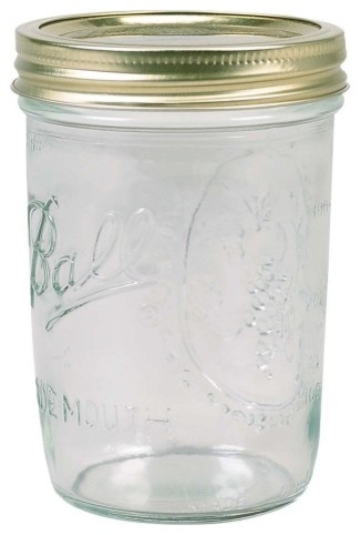 Ball 16oz Wide Mouth Mason Jars - 12 Pack kitchen-canisters-and-jars