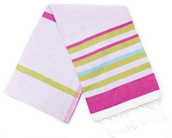 Spirit Turkish Bath Towels - Fuchsia - Absorbs water fast and dries quickly, this traditional Turkish towel takes up less space than a standard towel and is a great alternative in the bathroom. From yoga classes to beach sports to baby care, this cotton towel is also perfect as a light weight throw for many uses. Reversible.