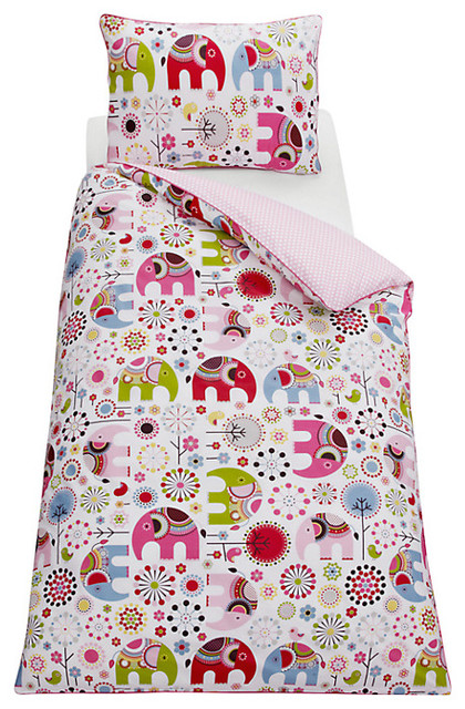 Abbey Elephant Duvet Cover And Pillowcase Set