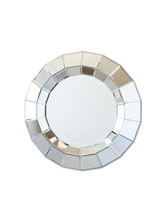 Ainsworth Round Beveled Wall Mirror by Two's Company® -