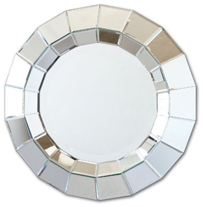 Ainsworth Round Beveled Wall Mirror by Two's Company® eclectic-wall-mirrors