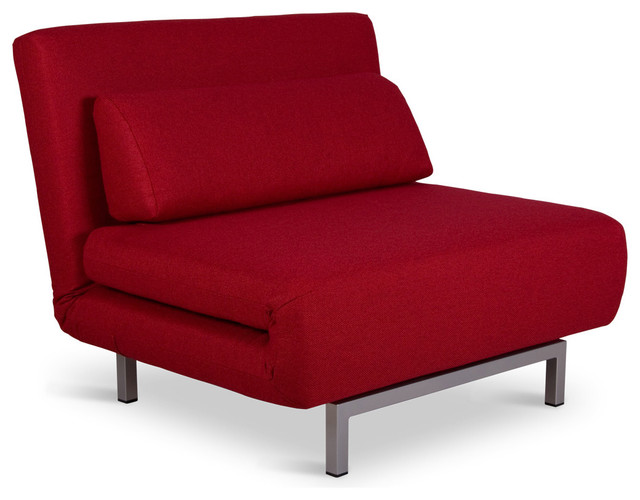copperfield solo red chair bed modern futons. Black Bedroom Furniture Sets. Home Design Ideas