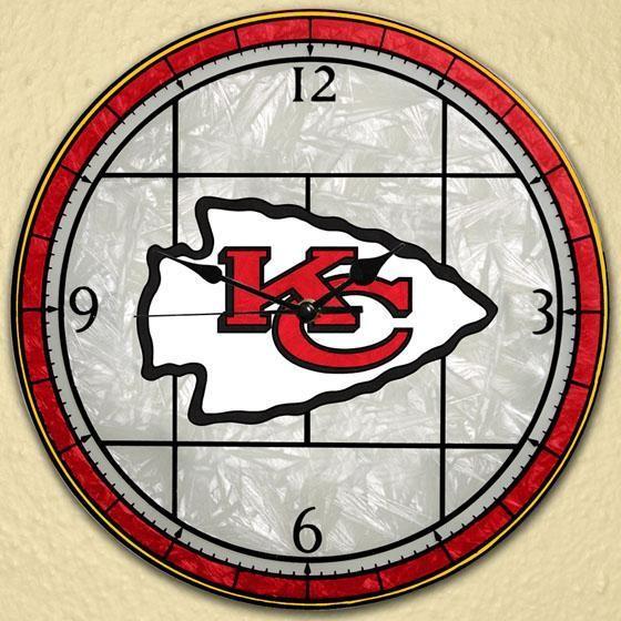 Sports Team Nfl Art Glass Clock Traditional Clocks