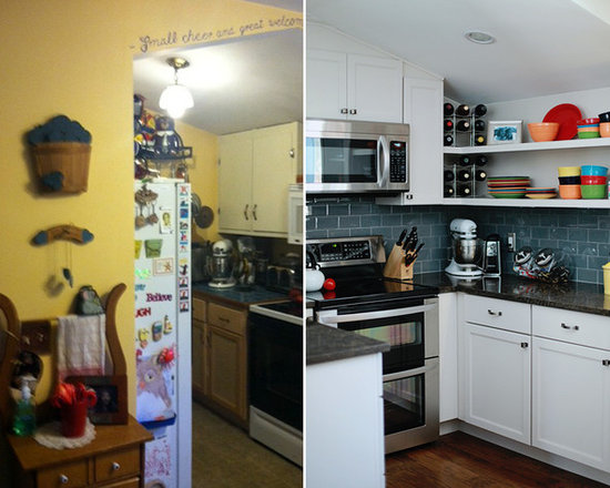 Clean Cut Dover Kitchen - Before this space was dull and cramped. Now it's vibrant and organized.
