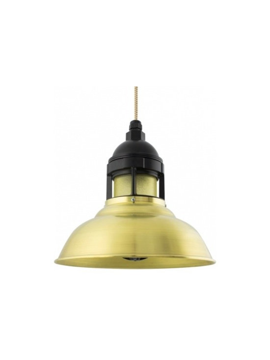 The Outback Industrial Brass Pendant -
