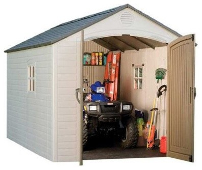 Lifetime 8 x 12 ft outdoor storage shed modern sheds for Modern outdoor storage shed