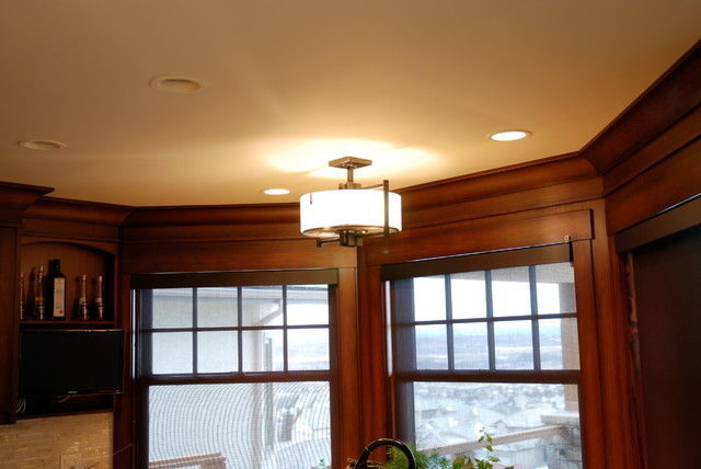 Private residence contemporary-kitchen-island-lighting