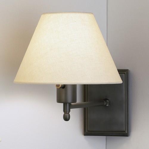 David Easton Meilleur Swing Arm Wall Sconce in Deep Patina Bronze modern-swing-arm-wall-lamps
