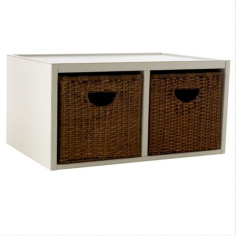 Abbeville Divided Shelf with Baskets traditional storage boxes