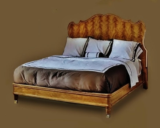 Cool Stuff - New Traditional King  Size Bed with stainless steel trim. Available in 30 custom finishes. New Traditional strikes the perfect chord between 'classic' and 'chic.' It has the comforting familiarity that we associate with traditional furniture, yet it also has a dash of élan that makes it relevant.