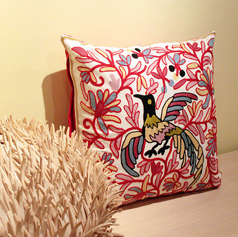 Embroidery cushion - Phenix asian-decorative-pillows