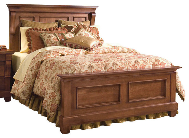 Kincaid Tuscano Solid Wood Queen Panel Bed Traditional